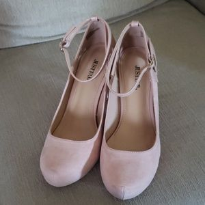 Just Fab blush pink pumps wide width